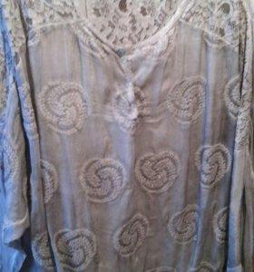Блуза 64-66разм.новая итальянская очень красивая