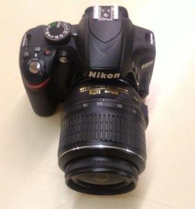 Продам фотокамеру Nikon D3200 +18-55 VR black