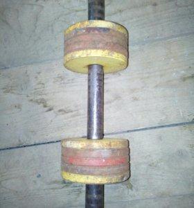 Разборная гантель 10 кг