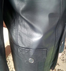 Кожаная мужская куртка-пиджак