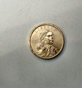 1 доллар 2017 США Сакагавея