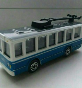 Троллейбус  металл  моделька