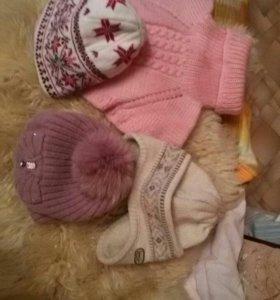 Женские шапки, шарфы, перчатки