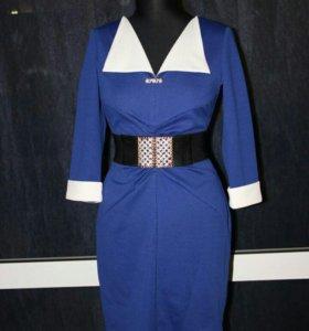 Новое платье синее