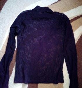 Блузка Сетка черная
