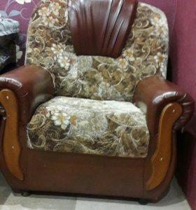 Кресло руно кож.зам