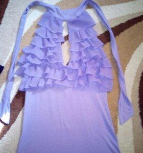Блузка с валанами