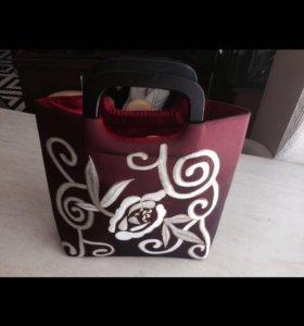 Шелковая сумка 👜 новая!!