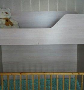 Кровать чердак с ситемой хранения + 2 матраса