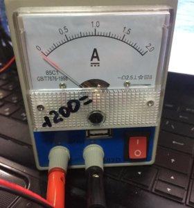 Зарядка для телефонов с амперметром