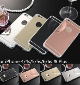 Зеркальный чехол для айфона 4/4S, 5/5S, 6/6S и 6+