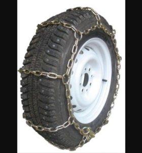 Два колеса для жигулей классики с цепями