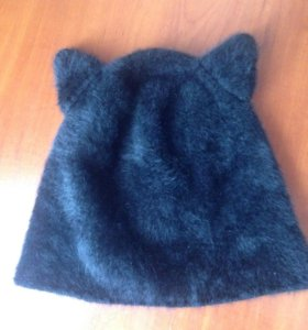 Ангорковая шапка с ушками Ostin