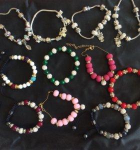 Новые браслеты (набор 9шт)