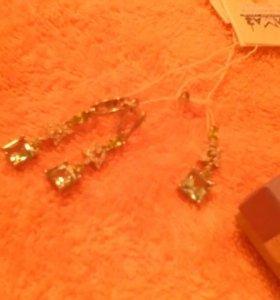 Серьги и подвеска серебро