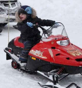 Прокат для детей на снегоходе