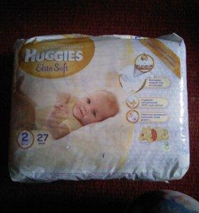 Подгузники детские Huggies Elite Soft новые