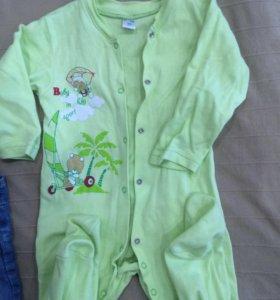 Новый комбезик-пижама 86 см