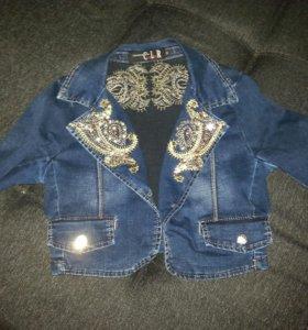 Джинсовая курточка (балеро)