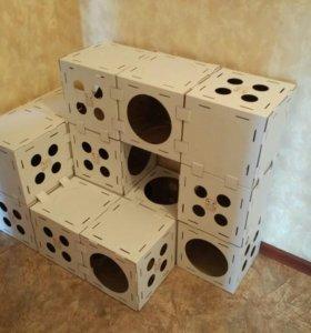 Домик -конструктор для кошки, кота и котенка