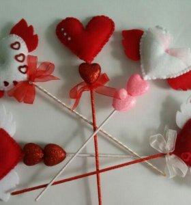 Валентинки-сувениры ручной работы