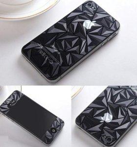 3D матовые плёнки на айфона 4/4S, 5/5S, 6+