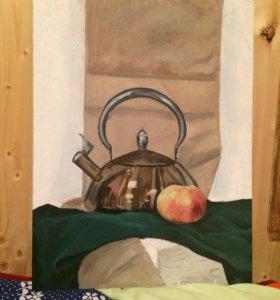 Натюрморт чайник картина