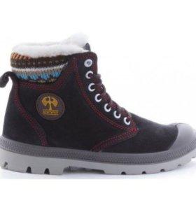 Зимняя обувь черный нубук ,натур.мех,