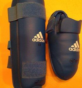 Защита для голени и стопы для тренировки (каратэ)