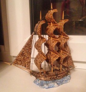 корабль, ручная работа
