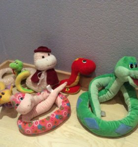 """Коллекция змеек (2 """"говорящие"""") игрушки"""