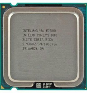 Core 2 Duo E7500 Wolfdale (2933MHz, LGA775)