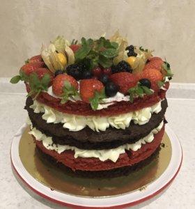 Торты с ягодами на заказ