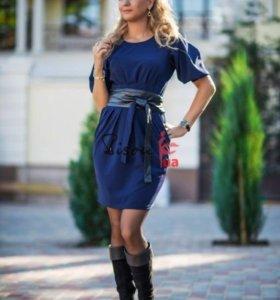 Платье с поясом 44 размер