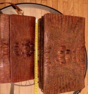 Кошелёк и сумки из крокодиловой кожи