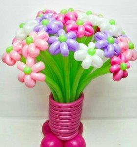 Ромашки из шариков(60-70р)