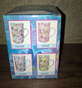 Чашка Fine porcelain и Менажница -новые