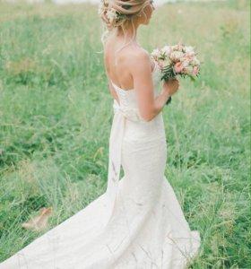 """Свадебное платье """"рыбка"""" р. 42"""