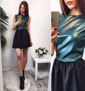 Платье с шифоновой юбочкой