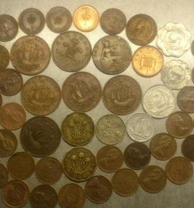 Монеты Великобритании разных лет