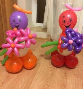Композиции из шариков