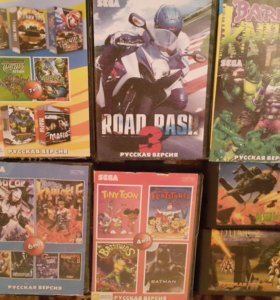 Катреджы на Sega 16 бит.