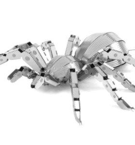 3D фигурка/пазл из металла - паук