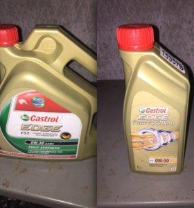 Моторное масло castrol 4л и 1л