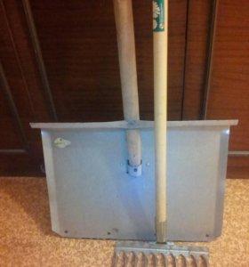 Лопата снеговая и грабли