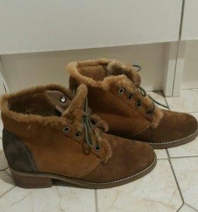 Ботинки зимние! Натуральная замша!