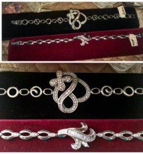 Браслет серебро разные