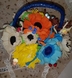 Корзиночка с цветами.