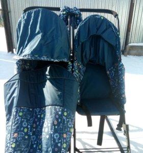 Санки-коляска для двойни