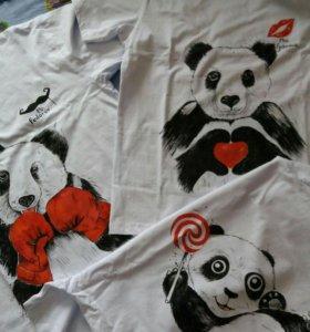 Роспись футболок , ручная работа.